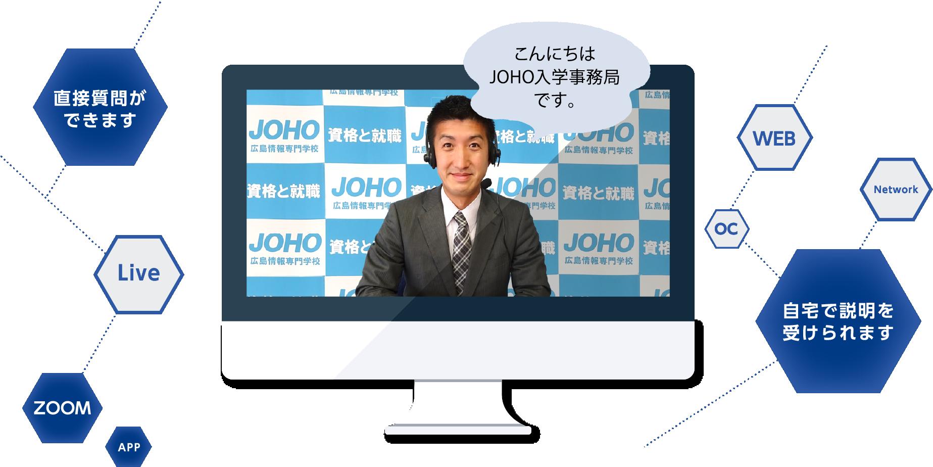 こんにちはJOHO入学事務局です。